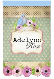 vintage songbird sorbet bouquet personalized wall hanging