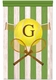 vintage tennis grand slam green personalized wall hanging