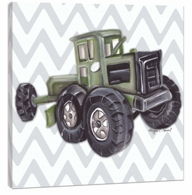 vintage toy tractor wall art
