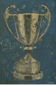 vintage trophy cup - blue wall art - unavailable