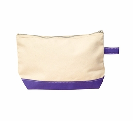 violet personalized makeup bag