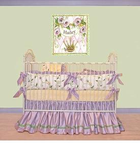 violet's garden crib bedding set