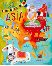 visit asia wall art