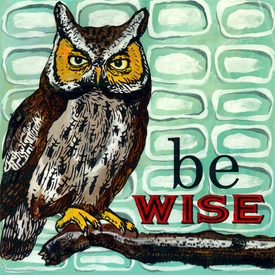 wall art - be wise