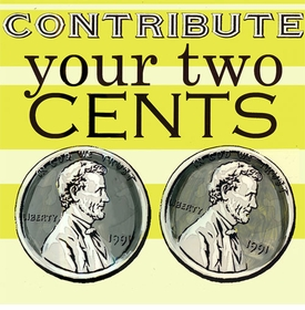 wall art - contribute your two cents