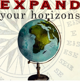 wall art - expand your horizons
