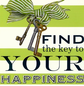 wall art - find the key to your happiness