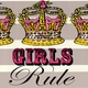wall art - girls rule
