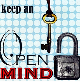 wall art - keep an open mind