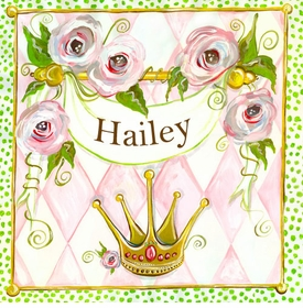 wall art - personalized princess