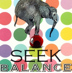 wall art - seek balance