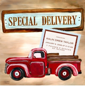 wall art - special delivery boy