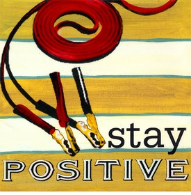 wall art - stay positive