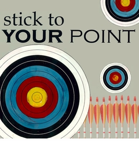 wall art - stick to your point