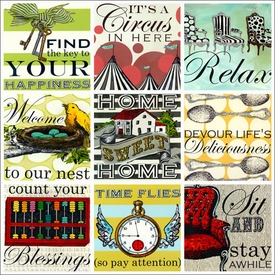 wall art - sweet sayings - home
