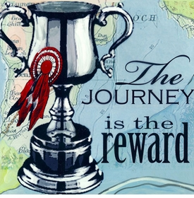 wall art - the journey is the reward