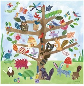 wall art - tree of life - critters