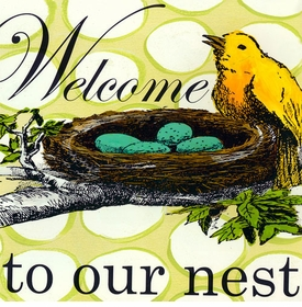 wall art - welcome to our nest