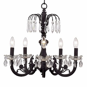 waterfall chandelier black