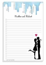 wedding couple note pad