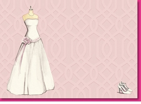 wedding dress invite (set of 10)