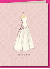 wedding dress thank you (set of 10)
