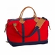 Weekender Bag - Solid Red/Navy