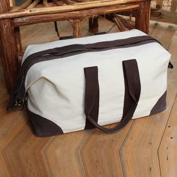 weekender travel bag - natural