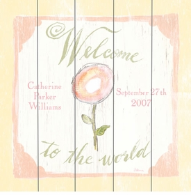 welcome to the world vintage sign