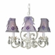 wheat floral bouqet chandelier shade