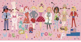 when i grow up - girls wall art