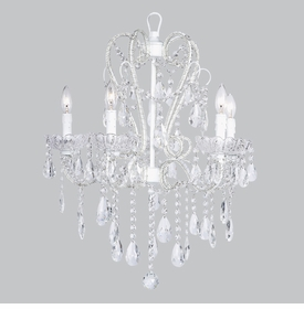 whimsical chandelier white