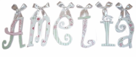 whimsical girl wall letters