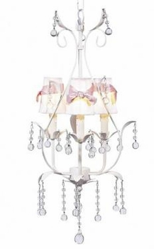 white 3 arm pear chandelier