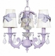 white 3 arm stacked glass ball chandelier