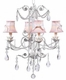 white 4 arm valentino chandelier