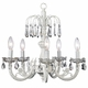 white 5-arm waterfall chandelier