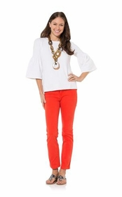 white bell sleeve sweater top