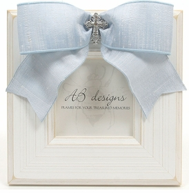 White & Blue Small Cross Frame
