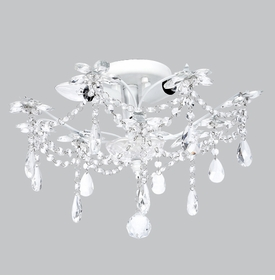 white ceiling mount chandelier