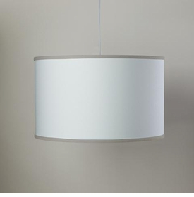 white cylinder light - taupe trim