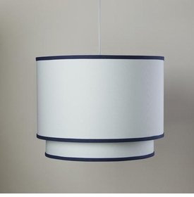 white double cylinder light - cobalt trim