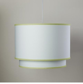 white double cylinder light - spring green trim