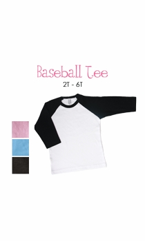 white dress (polka dot border) personalized baseball tee (toddler)