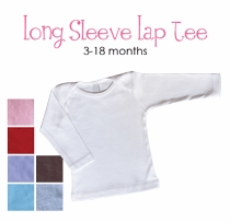white dress (polka dot border) personalized long sleeve lap tee