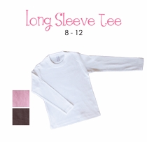 white dress (polka dot border) personalized long sleeve tee (youth)