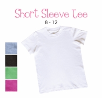 white dress (polka dot border) personalized short sleeve tee (youth)