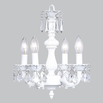 white fountain chandelier
