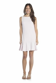 white fun in flounce poly crepe dress