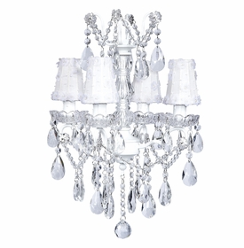 white glass center chandelier with petal flower shades